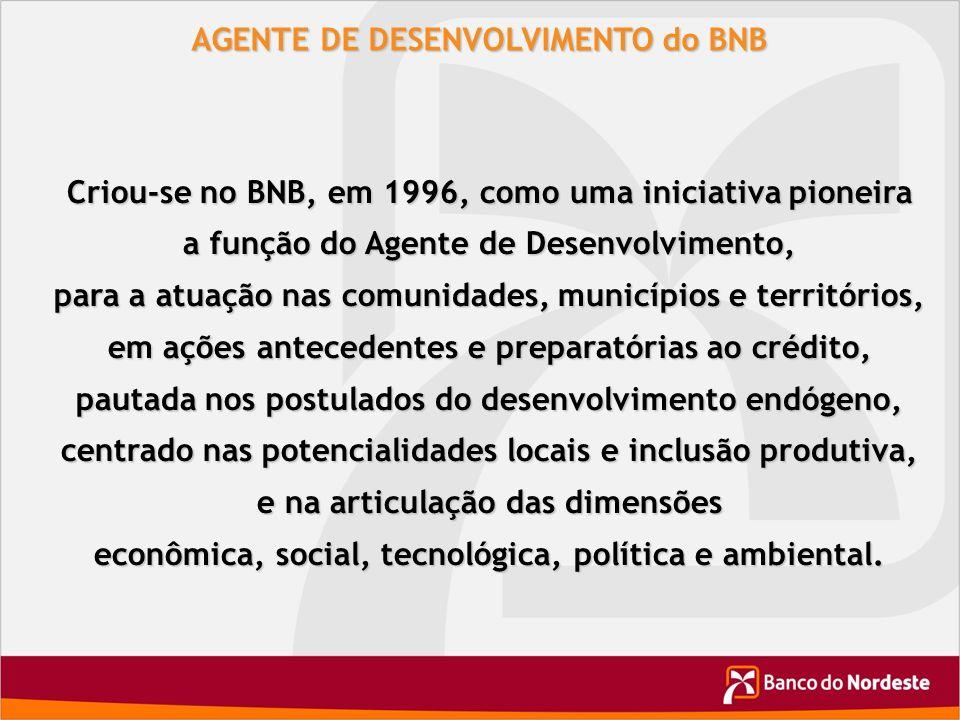 AGENTE DE DESENVOLVIMENTO do BNB