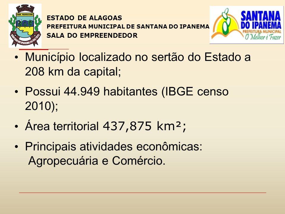 Município localizado no sertão do Estado a 208 km da capital;