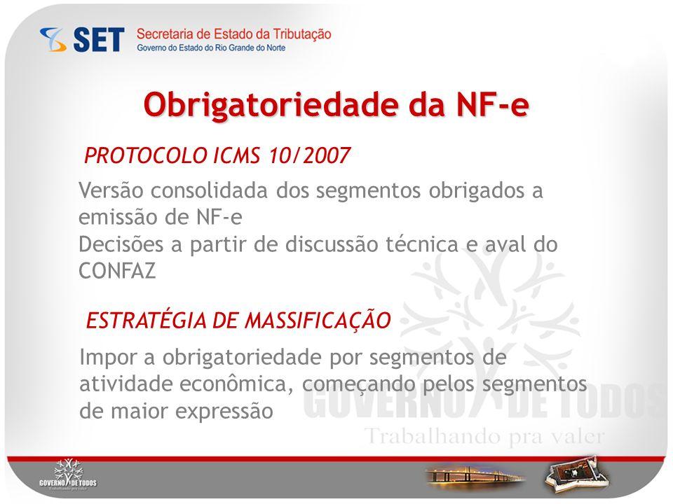 Obrigatoriedade da NF-e