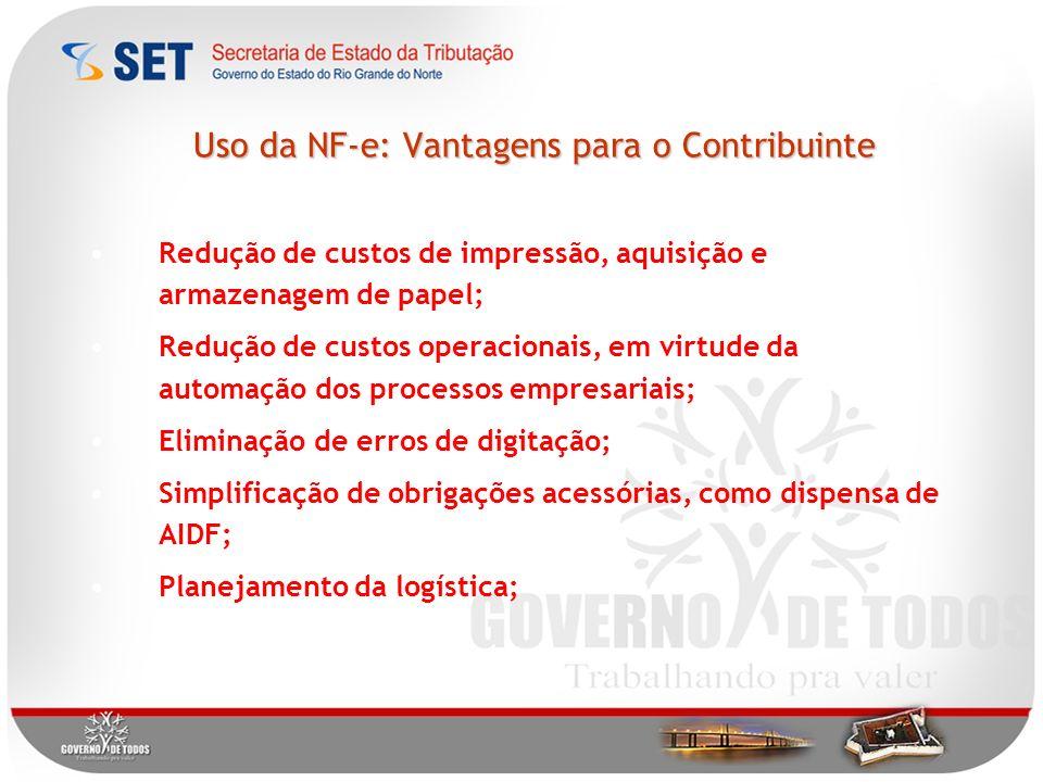 Uso da NF-e: Vantagens para o Contribuinte