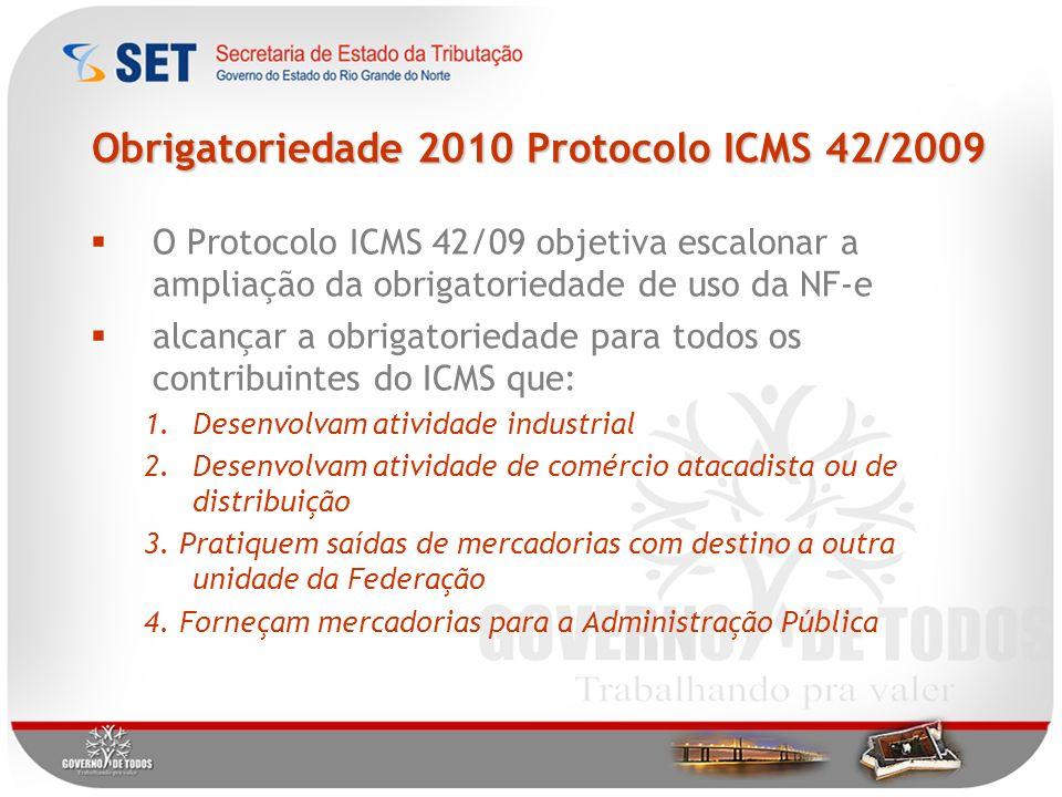 Obrigatoriedade 2010 Protocolo ICMS 42/2009