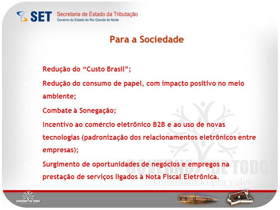 Para a Sociedade Redução do Custo Brasil ;