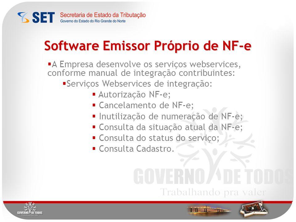Software Emissor Próprio de NF-e