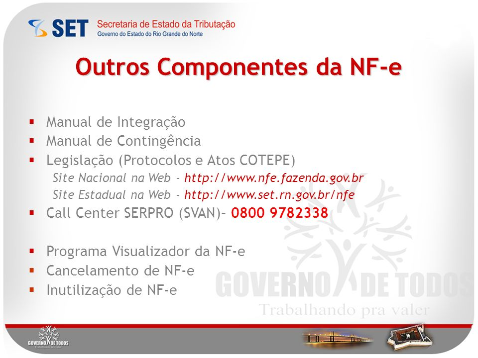 Outros Componentes da NF-e