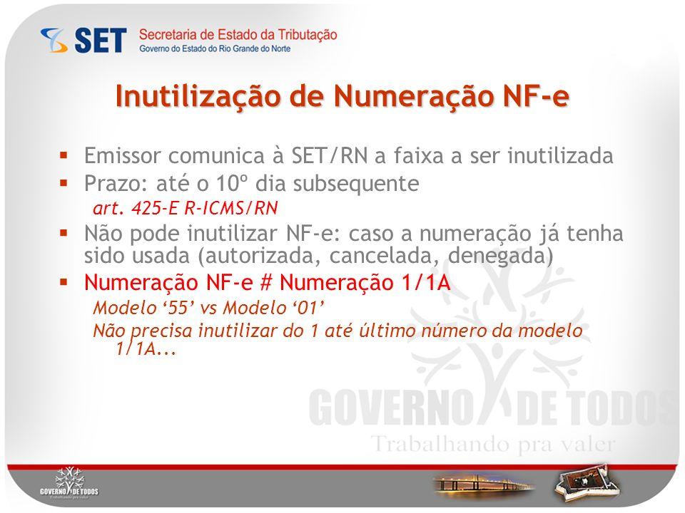 Inutilização de Numeração NF-e