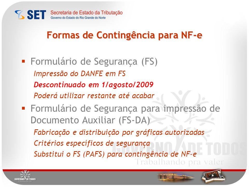 Formas de Contingência para NF-e