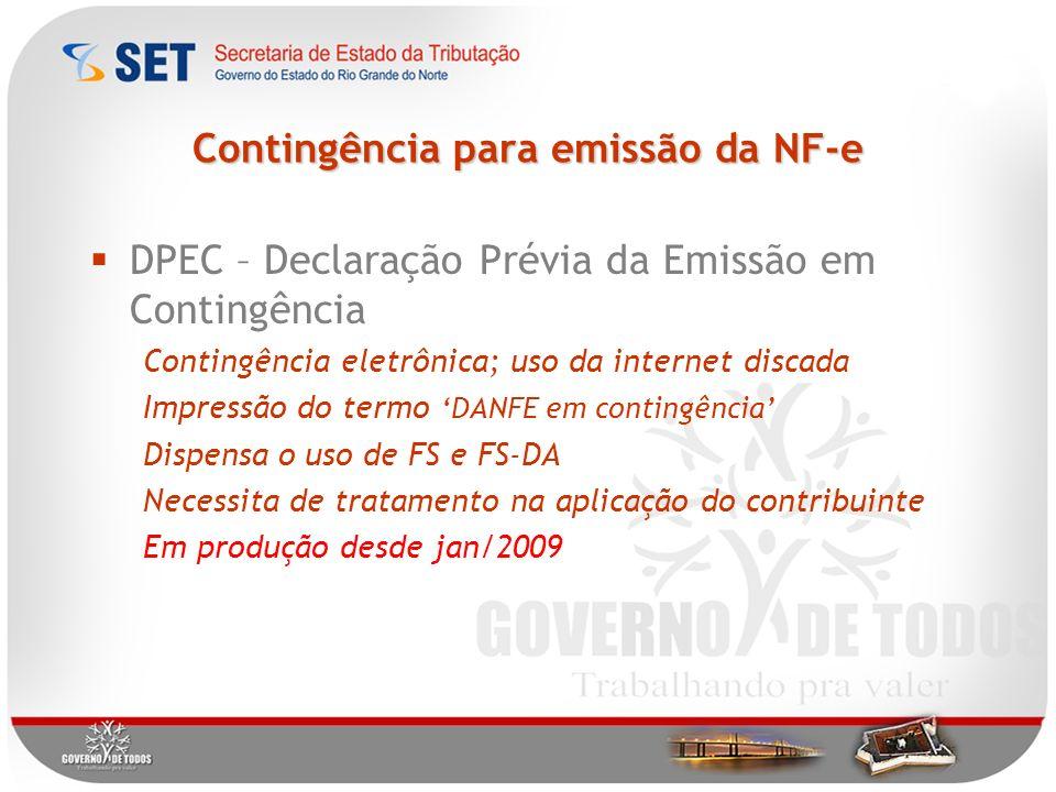 Contingência para emissão da NF-e