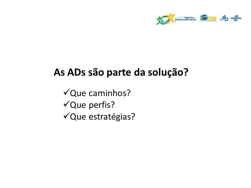 As ADs são parte da solução