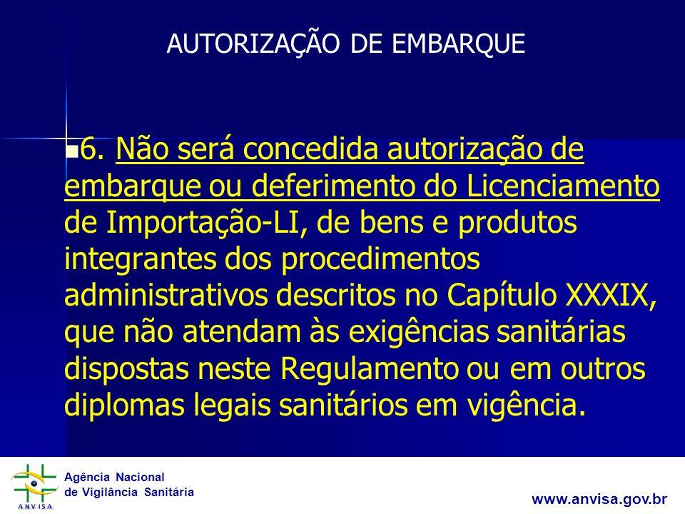 AUTORIZAÇÃO DE EMBARQUE