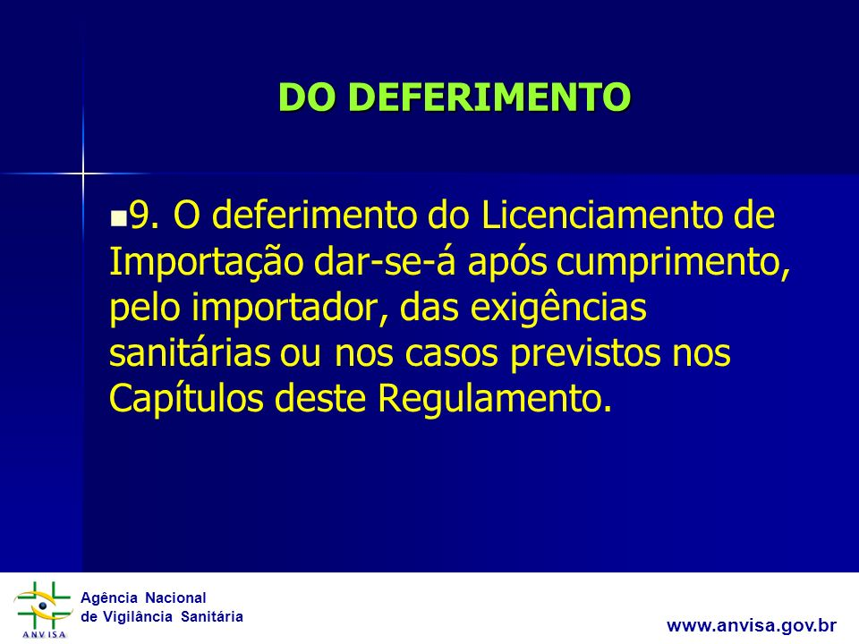 DO DEFERIMENTO