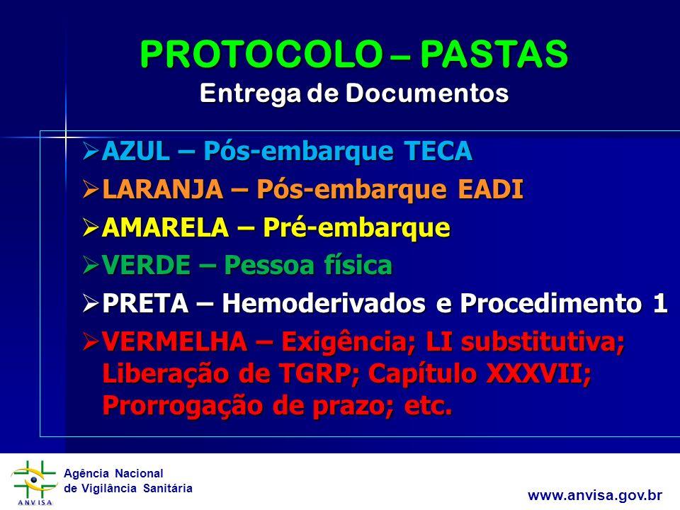 PROTOCOLO – PASTAS Entrega de Documentos