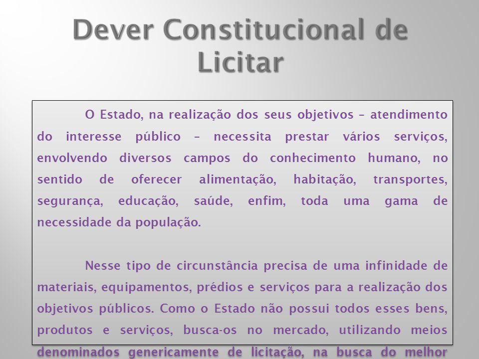 Dever Constitucional de Licitar