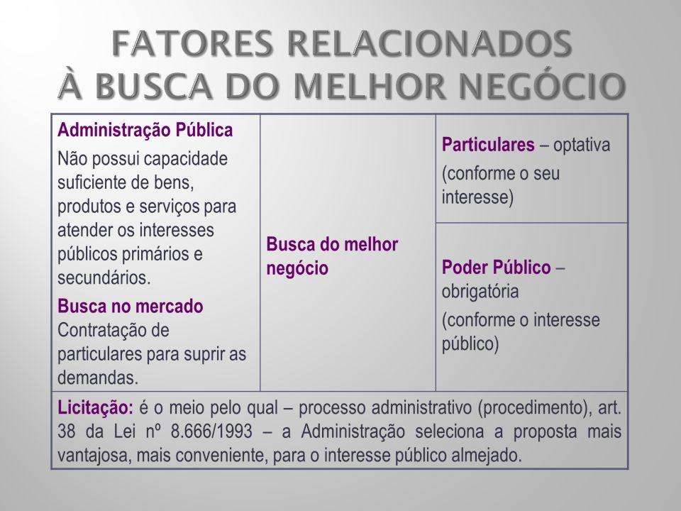 FATORES RELACIONADOS À BUSCA DO MELHOR NEGÓCIO