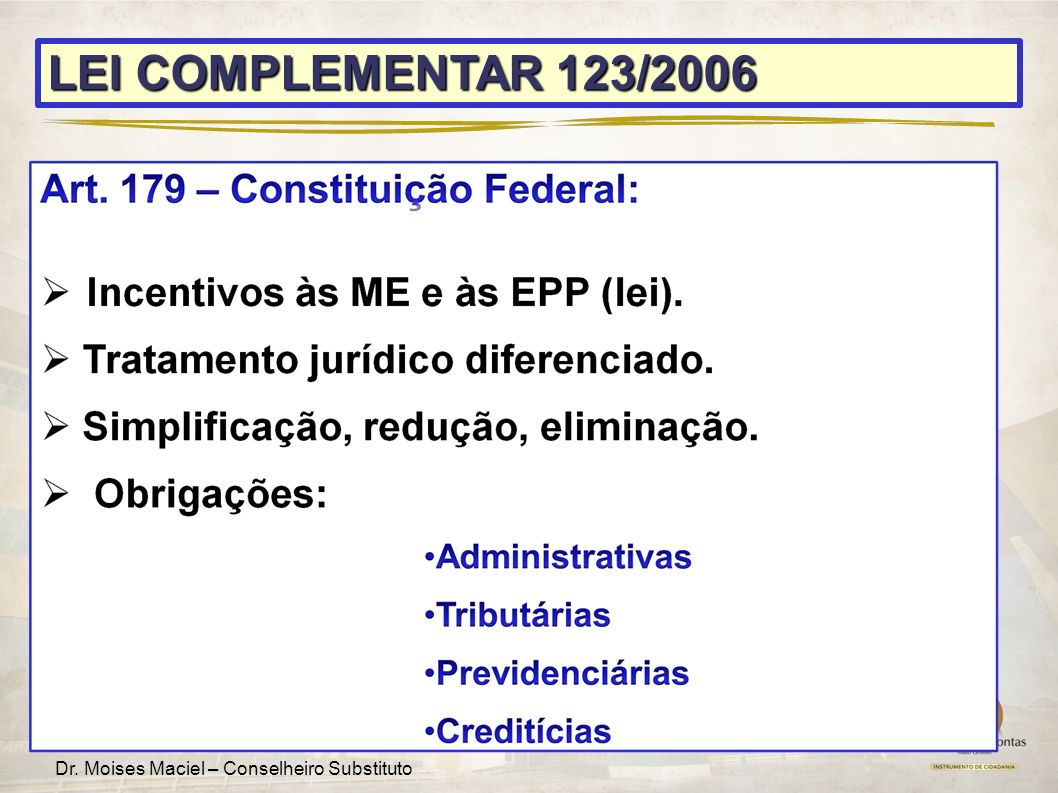 LEI COMPLEMENTAR 123/2006 12 12