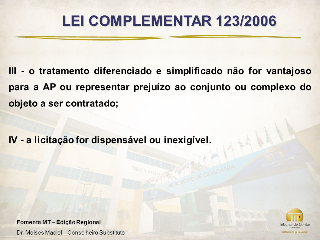 LEI COMPLEMENTAR 123/2006