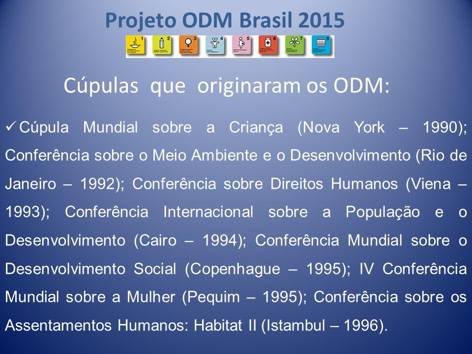Cúpulas que originaram os ODM: