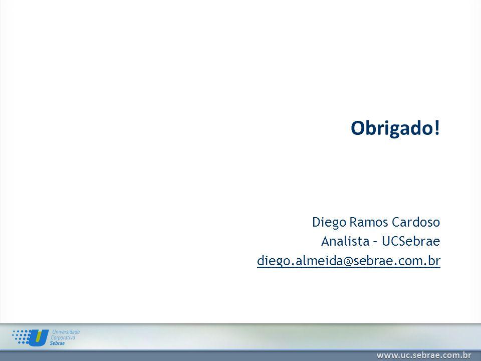 Diego Ramos Cardoso Analista – UCSebrae diego.almeida@sebrae.com.br