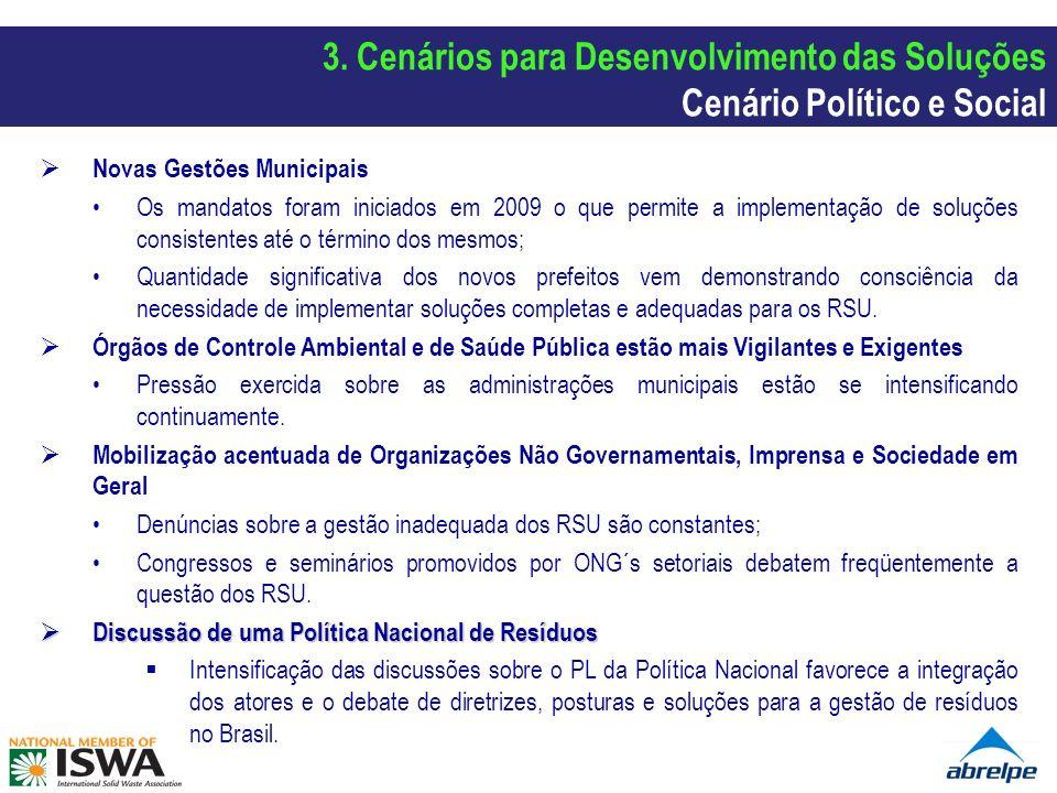 3. Cenários para Desenvolvimento das Soluções Cenário Político e Social