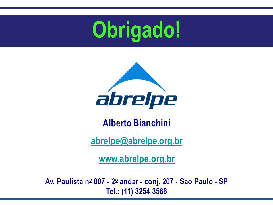 Av. Paulista no 807 - 2o andar - conj. 207 - São Paulo - SP