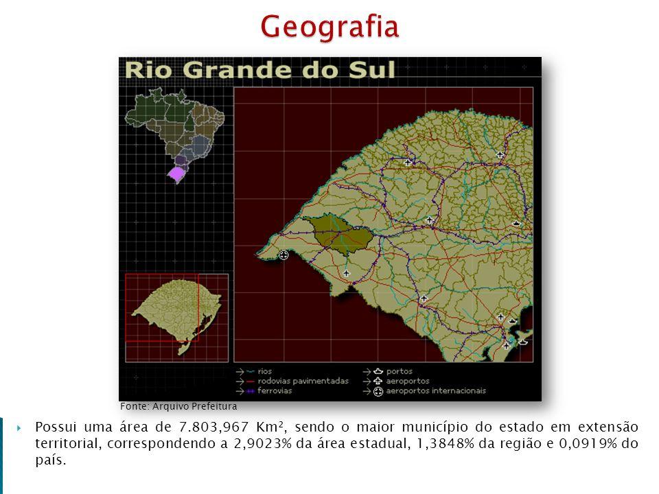 Geografia Fonte: Arquivo Prefeitura.