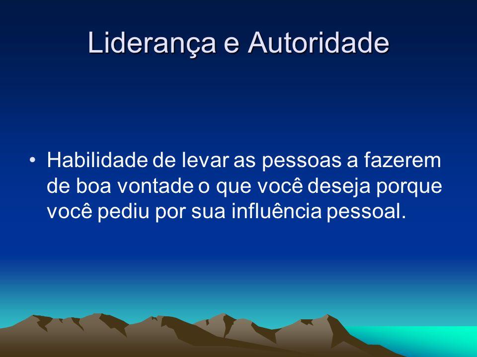 Liderança e Autoridade