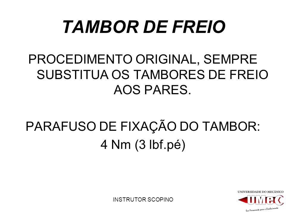 PARAFUSO DE FIXAÇÃO DO TAMBOR: