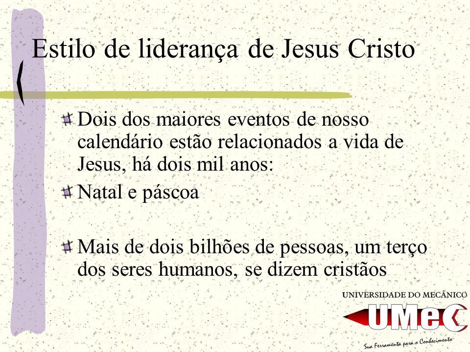 Estilo de liderança de Jesus Cristo