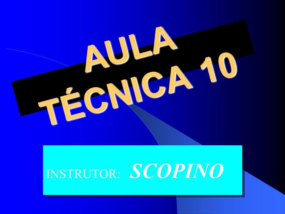 AULA TÉCNICA 10 INSTRUTOR: SCOPINO