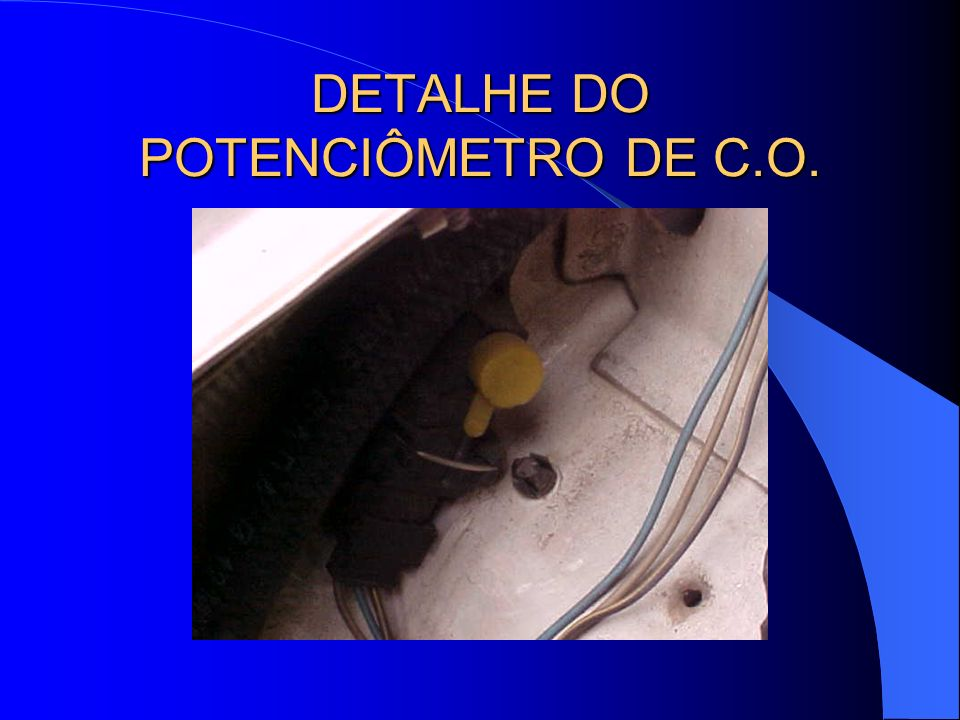 DETALHE DO POTENCIÔMETRO DE C.O.