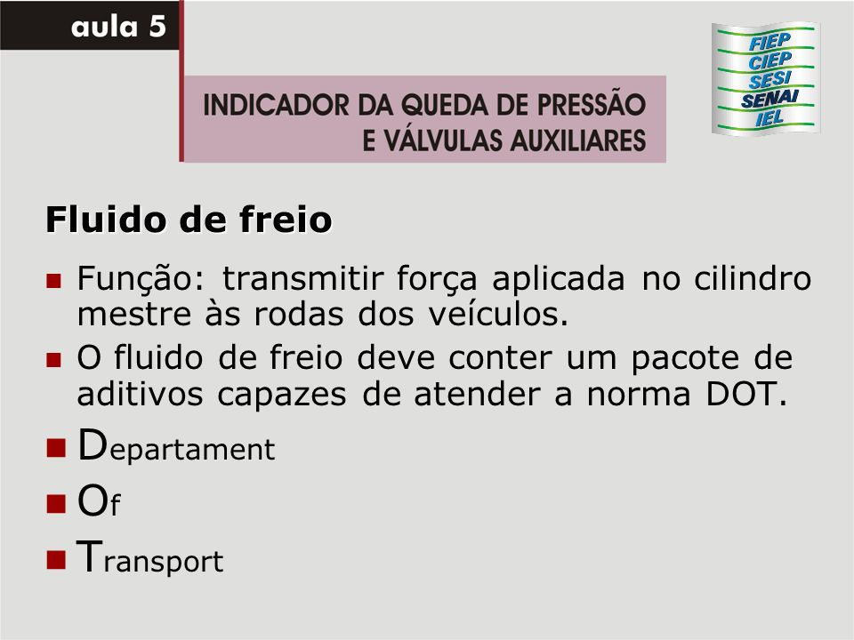 Departament Of Transport Fluido de freio