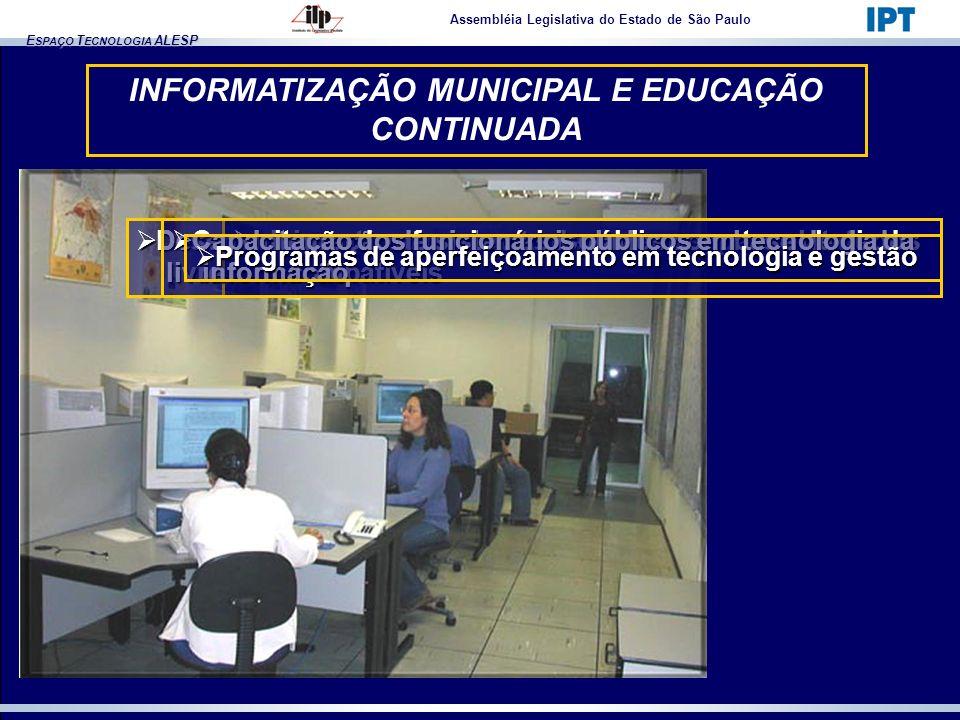 INFORMATIZAÇÃO MUNICIPAL E EDUCAÇÃO CONTINUADA