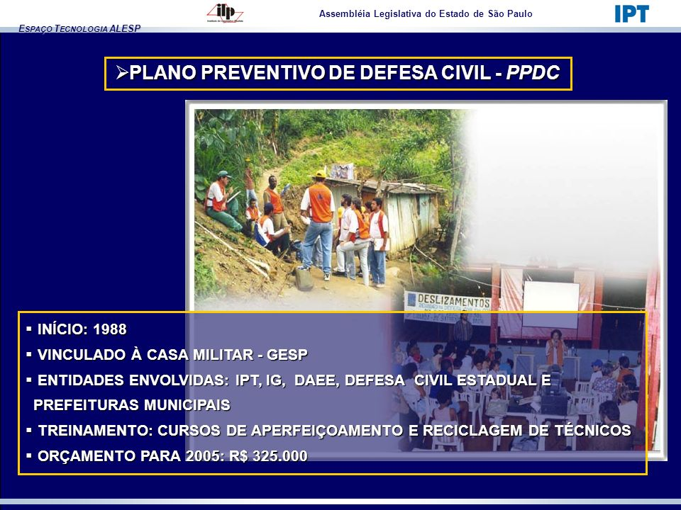 PLANO PREVENTIVO DE DEFESA CIVIL - PPDC