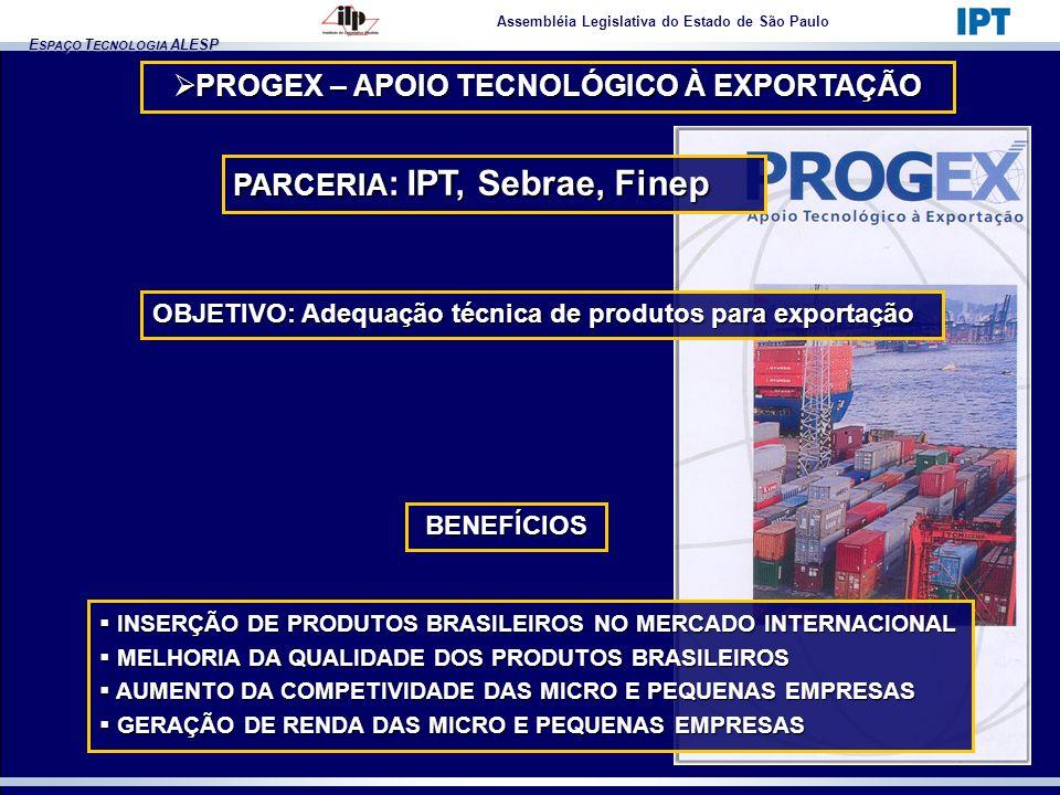 PROGEX – APOIO TECNOLÓGICO À EXPORTAÇÃO