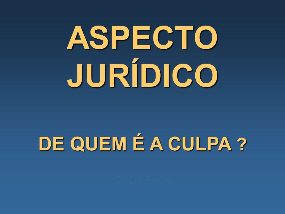 ASPECTO JURÍDICO DE QUEM É A CULPA QUEM PAGA