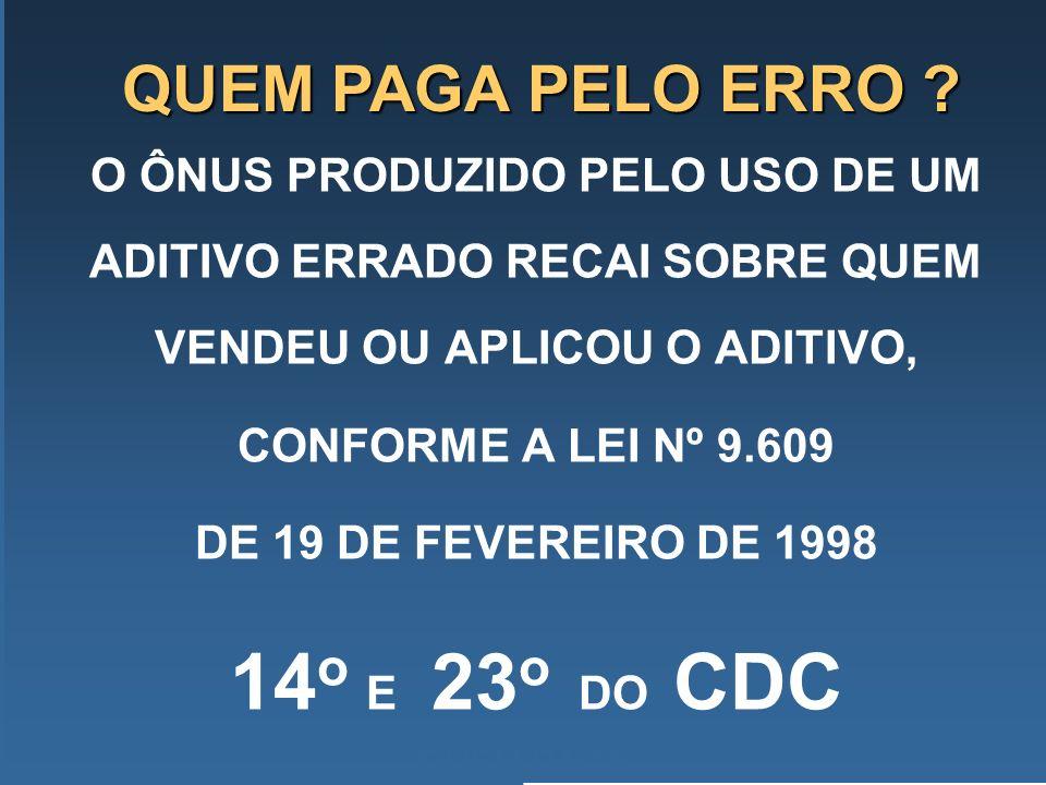 14o E 23o DO CDC QUEM PAGA PELO ERRO