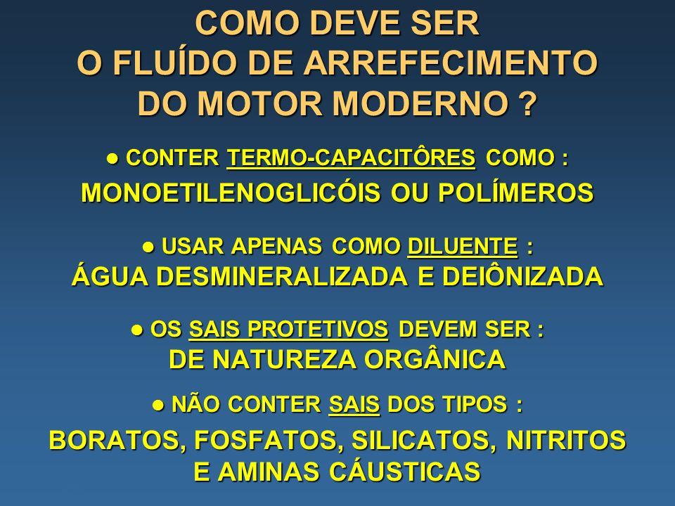 COMO DEVE SER O FLUÍDO DE ARREFECIMENTO DO MOTOR MODERNO