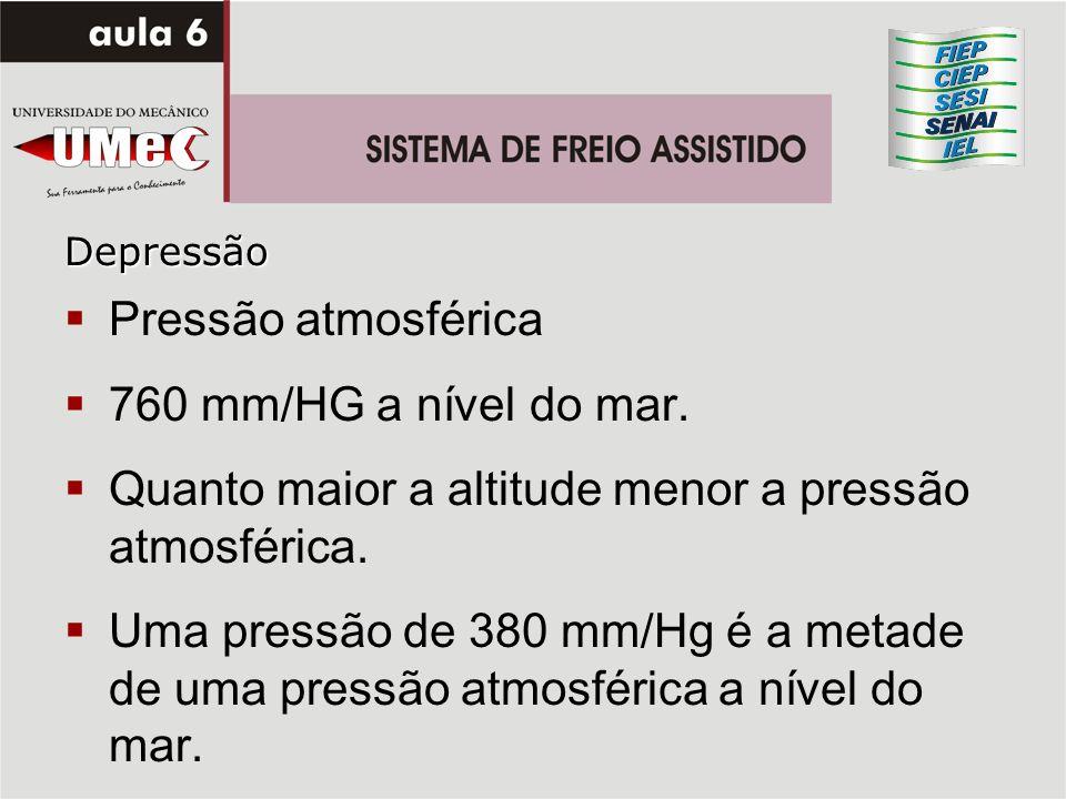 Quanto maior a altitude menor a pressão atmosférica.