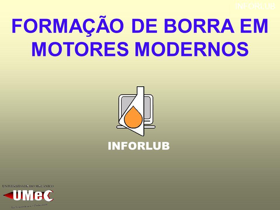 FORMAÇÃO DE BORRA EM MOTORES MODERNOS