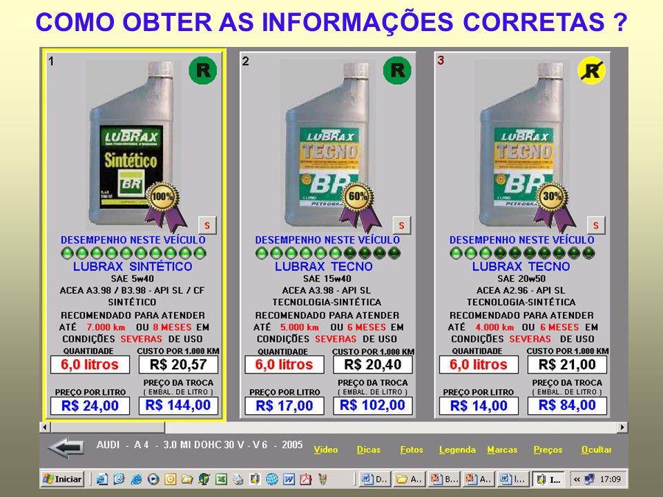 COMO OBTER AS INFORMAÇÕES CORRETAS