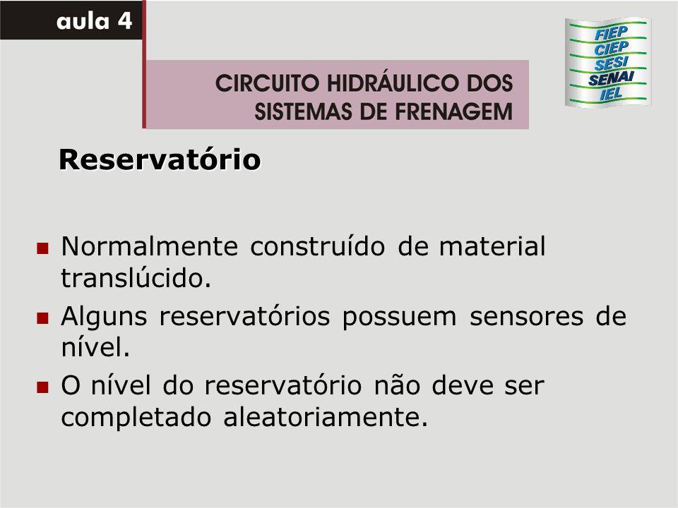 Reservatório Normalmente construído de material translúcido.