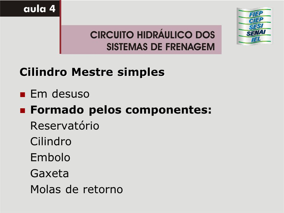 Cilindro Mestre simples