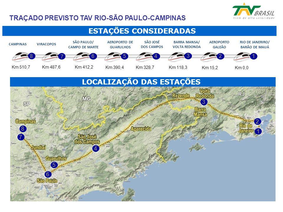 TRAÇADO PREVISTO TAV RIO-SÃO PAULO-CAMPINAS