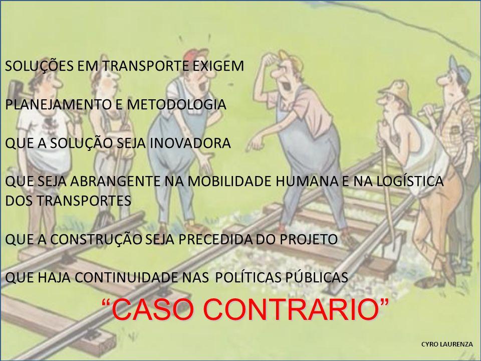 CASO CONTRARIO SOLUÇÕES EM TRANSPORTE EXIGEM