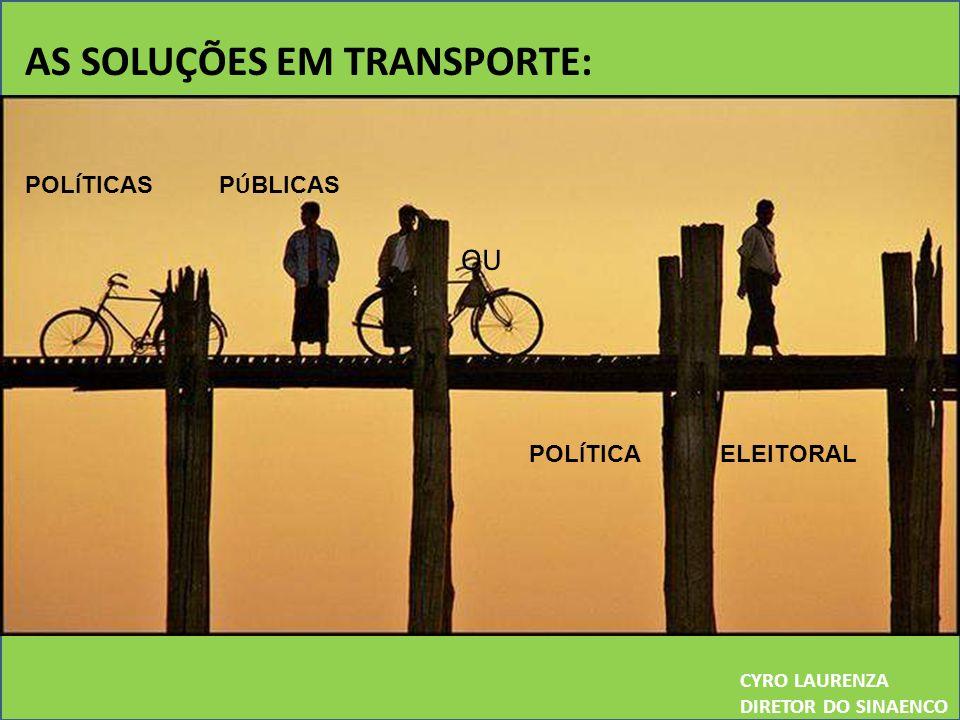 AS SOLUÇÕES EM TRANSPORTE: