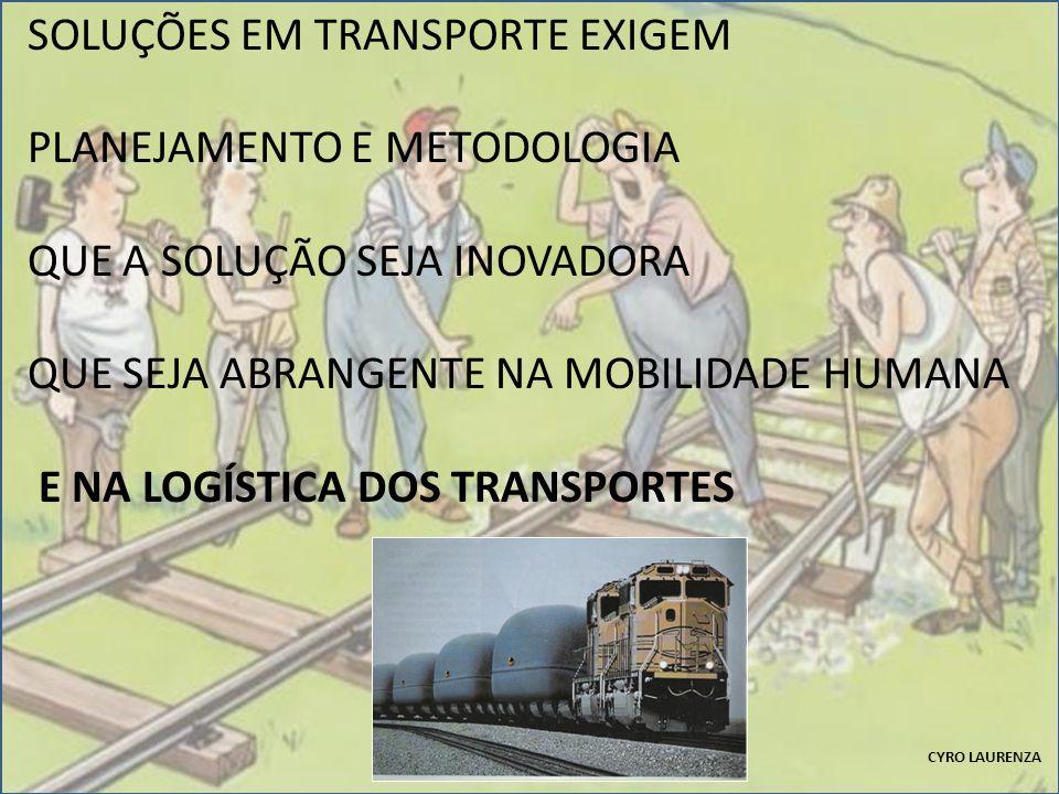SOLUÇÕES EM TRANSPORTE EXIGEM PLANEJAMENTO E METODOLOGIA