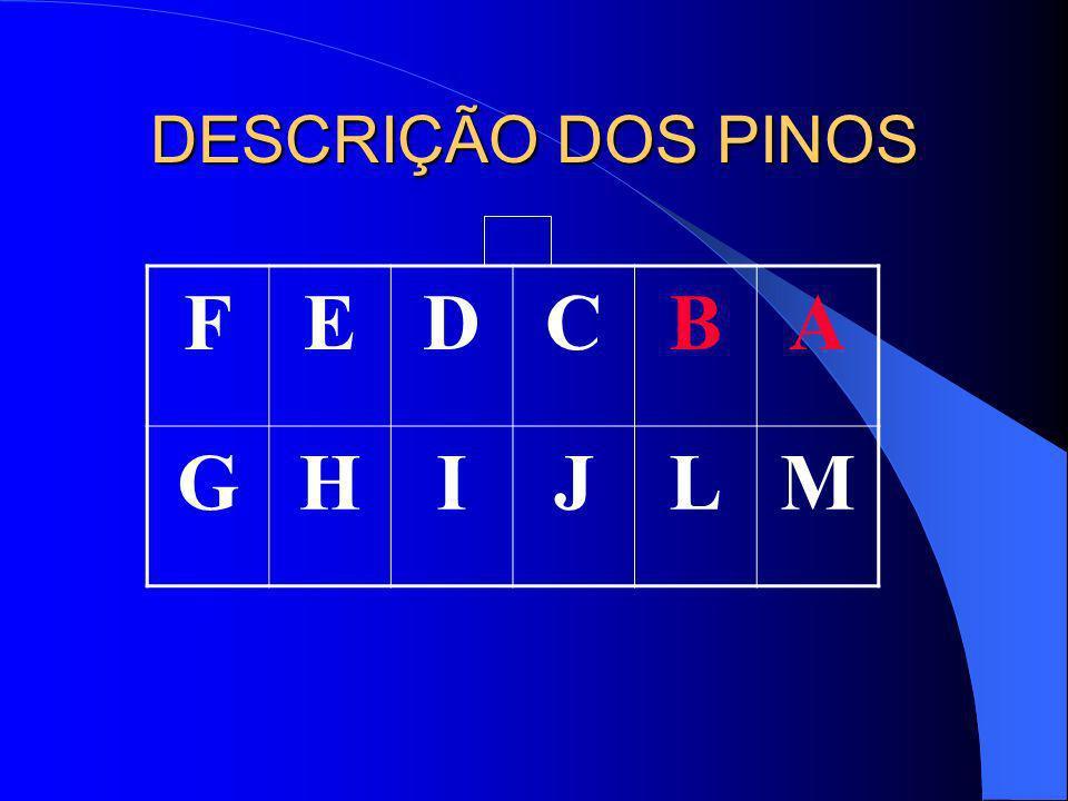 DESCRIÇÃO DOS PINOS F E D C B A G H I J L M