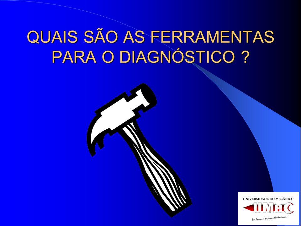 QUAIS SÃO AS FERRAMENTAS PARA O DIAGNÓSTICO