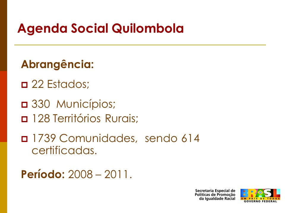 Agenda Social Quilombola