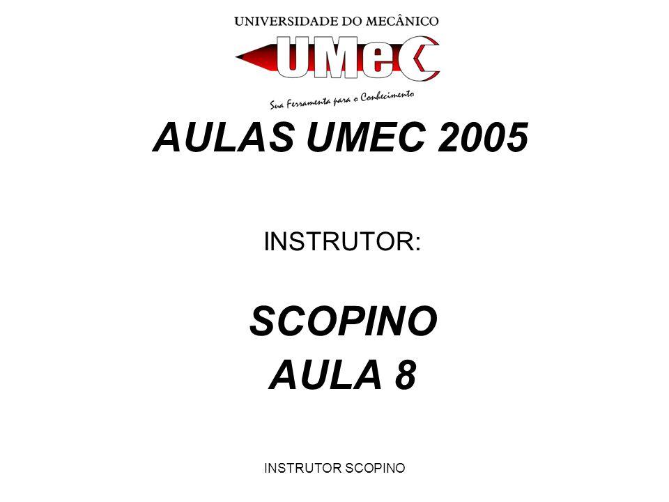 INSTRUTOR: SCOPINO AULA 8
