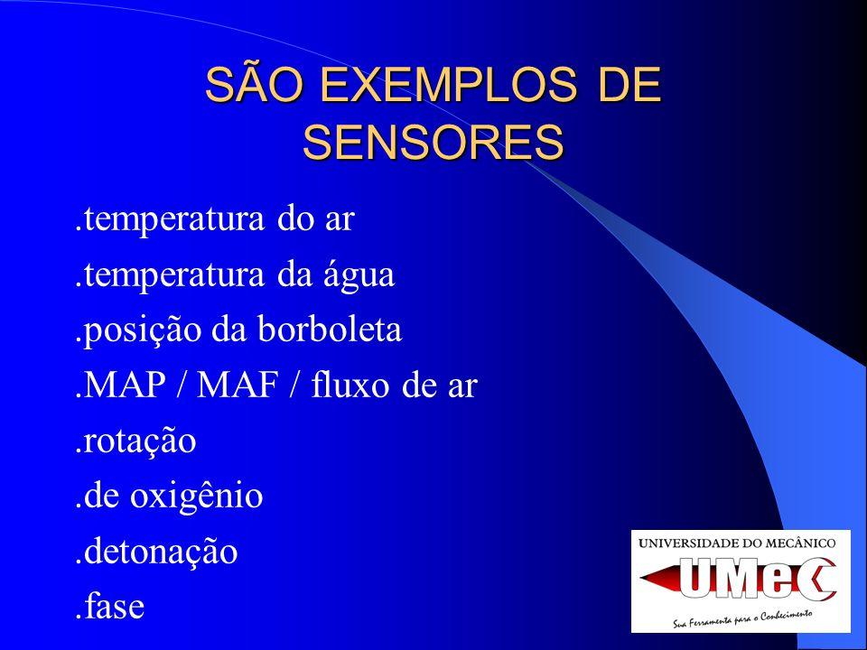 SÃO EXEMPLOS DE SENSORES